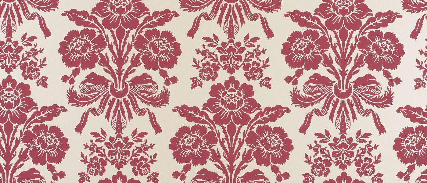 tatton cranberry damask wallpaper at laura ashley. Black Bedroom Furniture Sets. Home Design Ideas