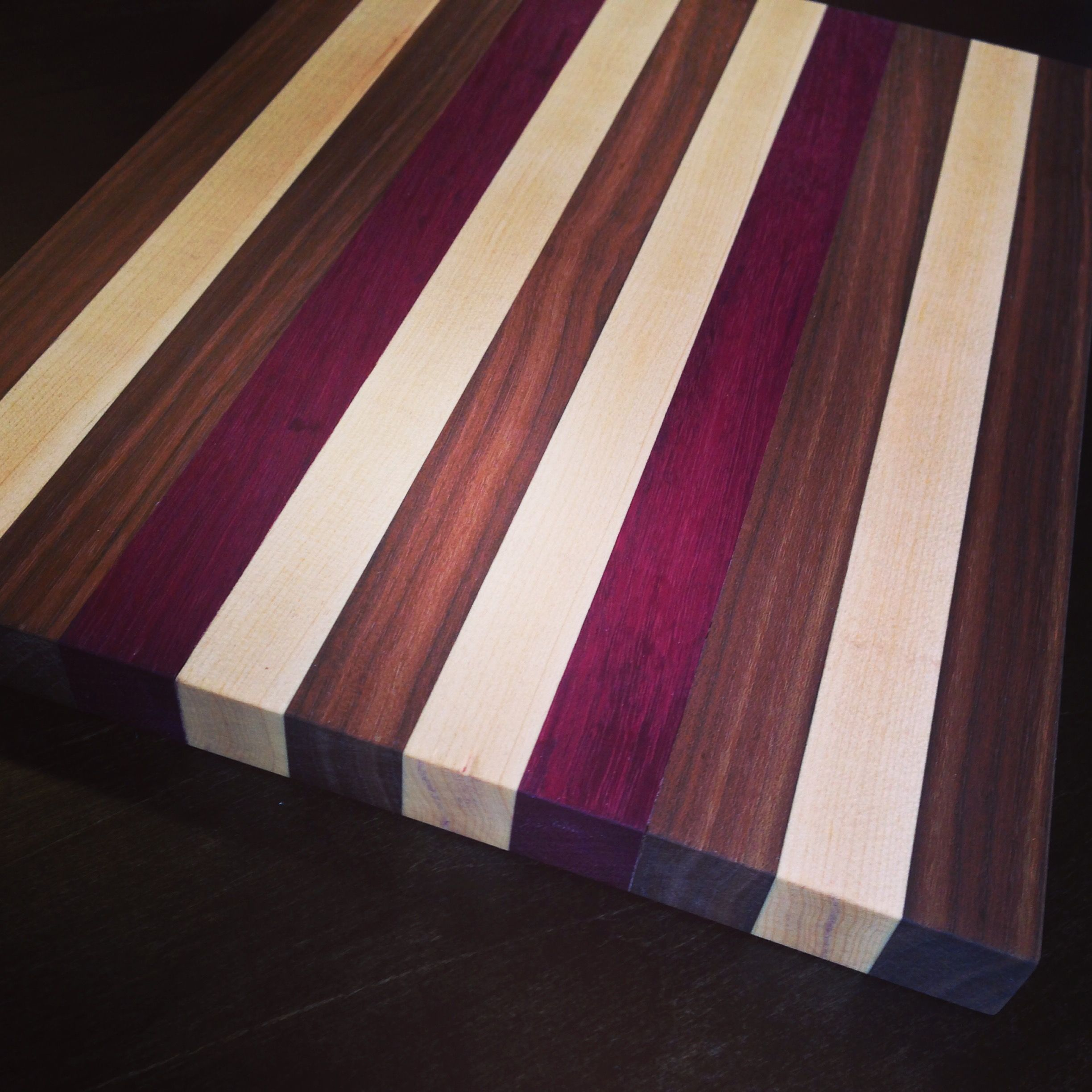 Different Types Of Cutting Boards This Solid Wood Cutting Board Is Made From Maple Purple