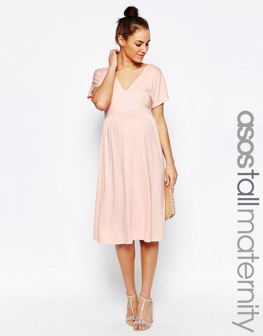 Asosmaternitytallmididresswithfluttersleeve my friendz discover the latest maternity dresses at asos shop for maternity maxi dresses pregnancy dresses and special occasion maternity dresses online with asos ombrellifo Image collections