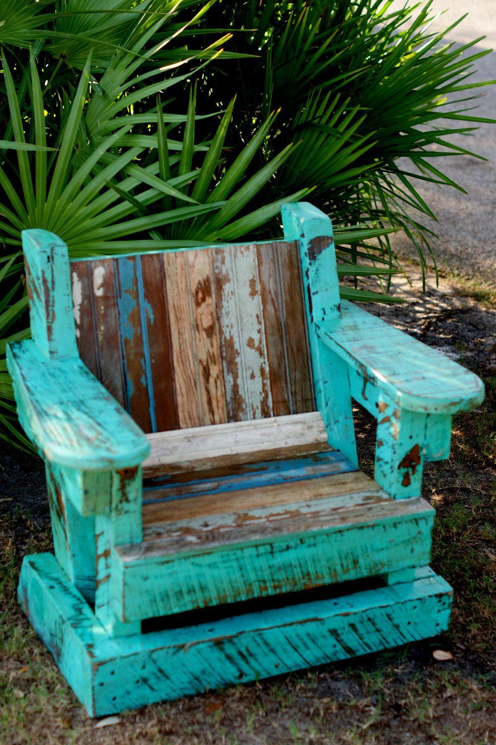 Use as inspiration for wood claimed wood project.     Reclaimed Beadboard Adirondack Chair Child Outdoor Furniture