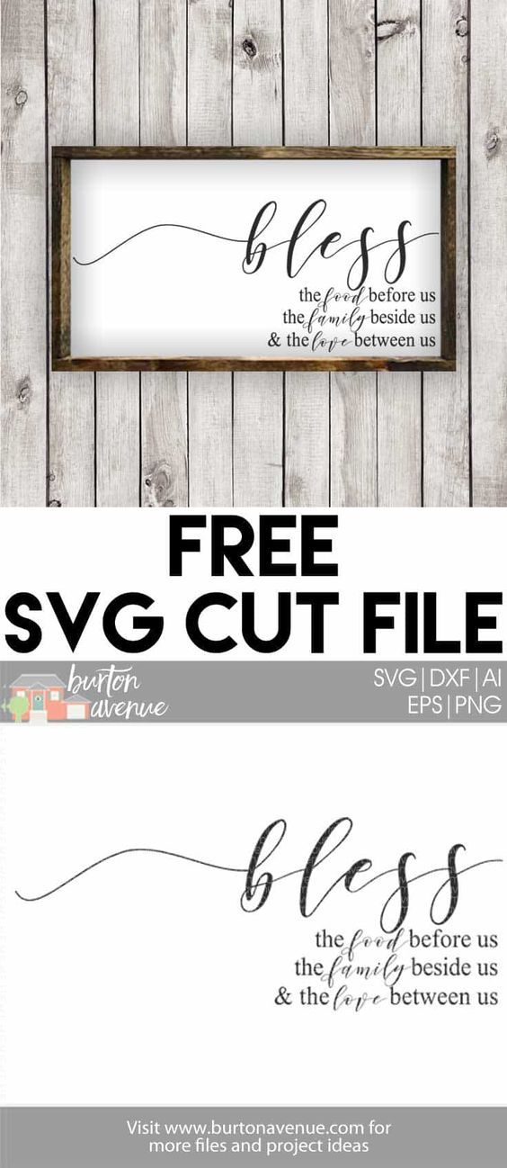 Free SVG Cut File - Bless The Food Before Us | laser