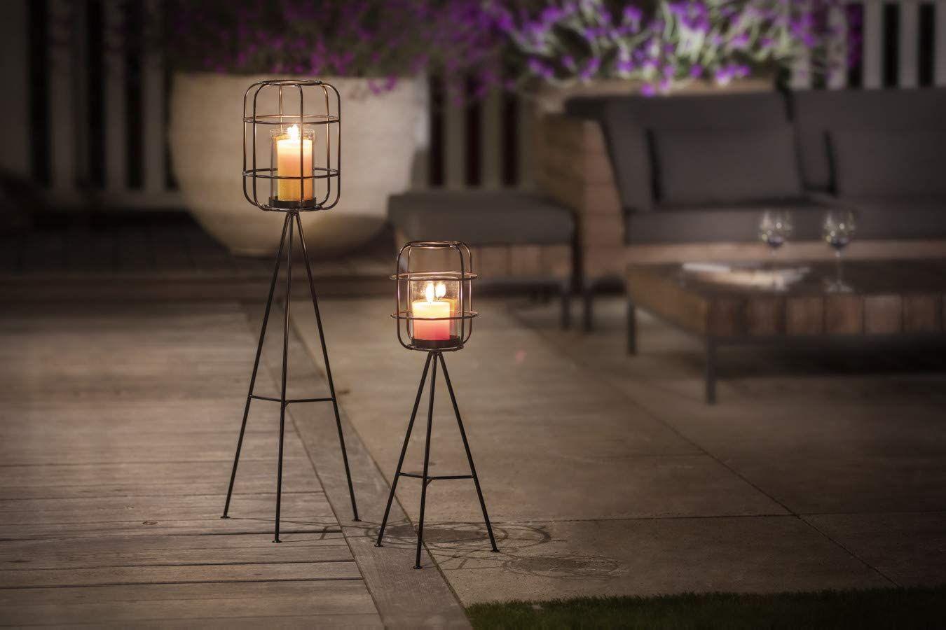 Lifa Living Grosse Kerzenhalter Fur Wohnzimmer Garten Modernes 2er Set Standleuchten Im Vintagestil Vogelkafig Kerzenleuc Kerzenleuchter Kerzen Kerzenhalter