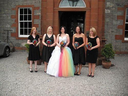 Bridal Parties Rainbow Wedding