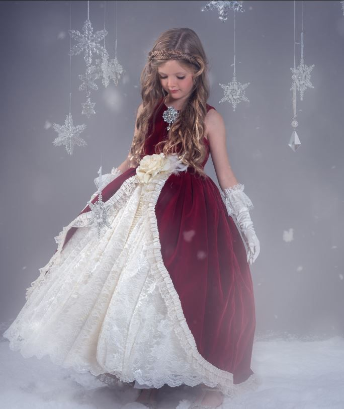 Holiday Traditions... A Rich Velvet Ball Gown Style Design | Girls ...