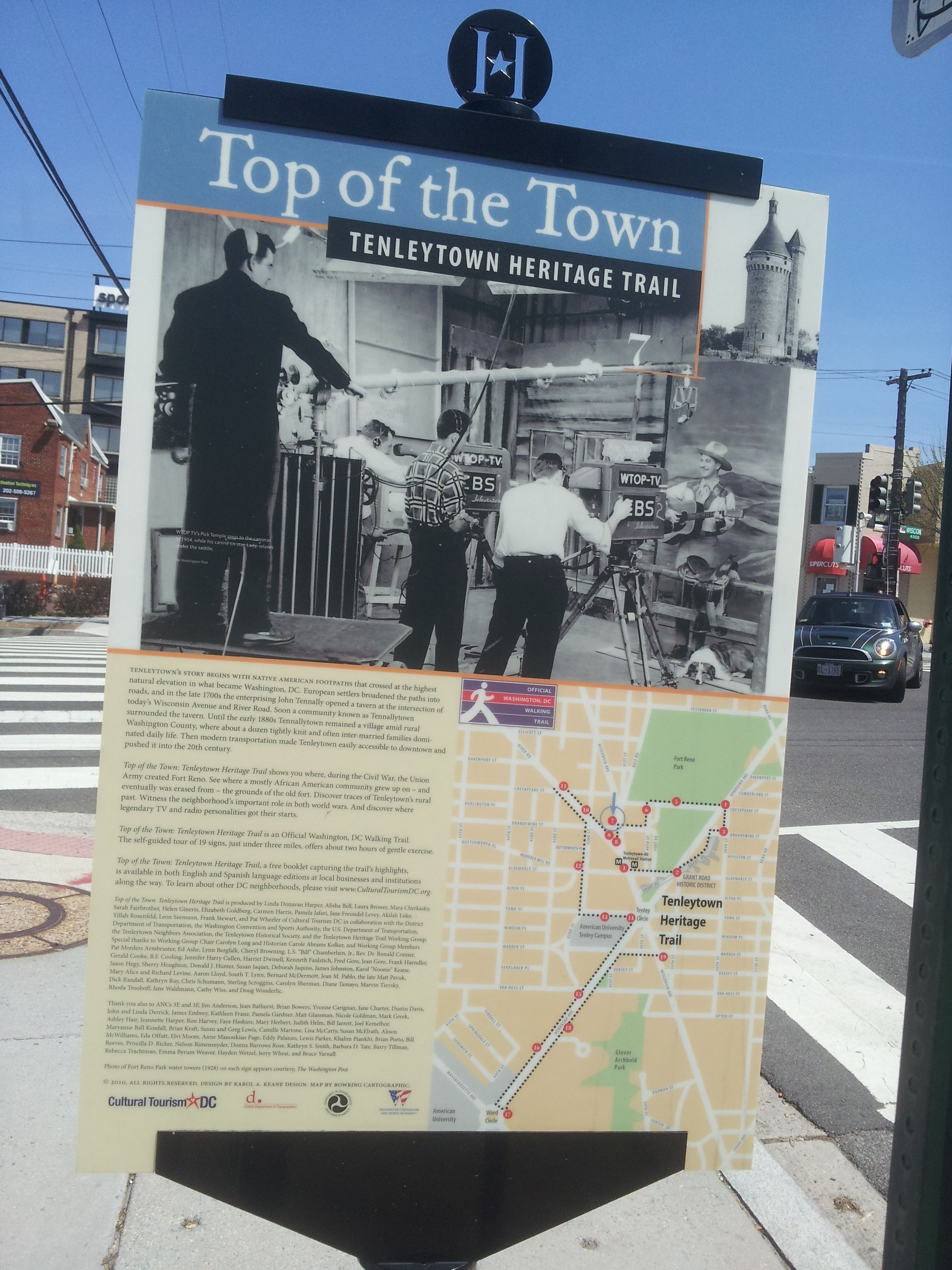 top of the town tenleytown heritage trail brief history of the history