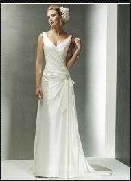 Robe de Mariée Classique Robe de Mariée Fourreau Col en V wd0017