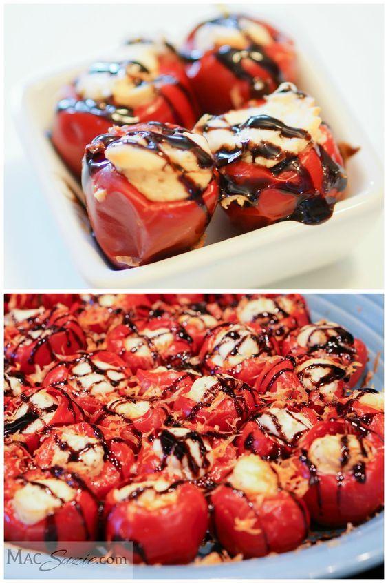 Sweet Spicy Stuffed Peppadew Peppers Recipe Stuffed Peppers Food Recipes Sweet Spicy