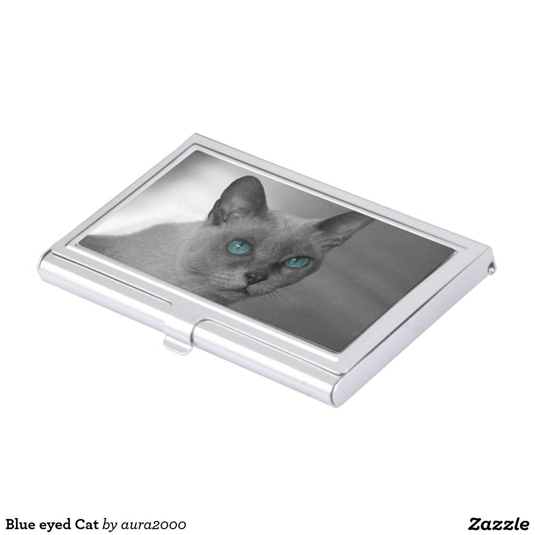 Blue eyed cat business card holder zazzle gifts pinterest blue eyed cat business card holder colourmoves