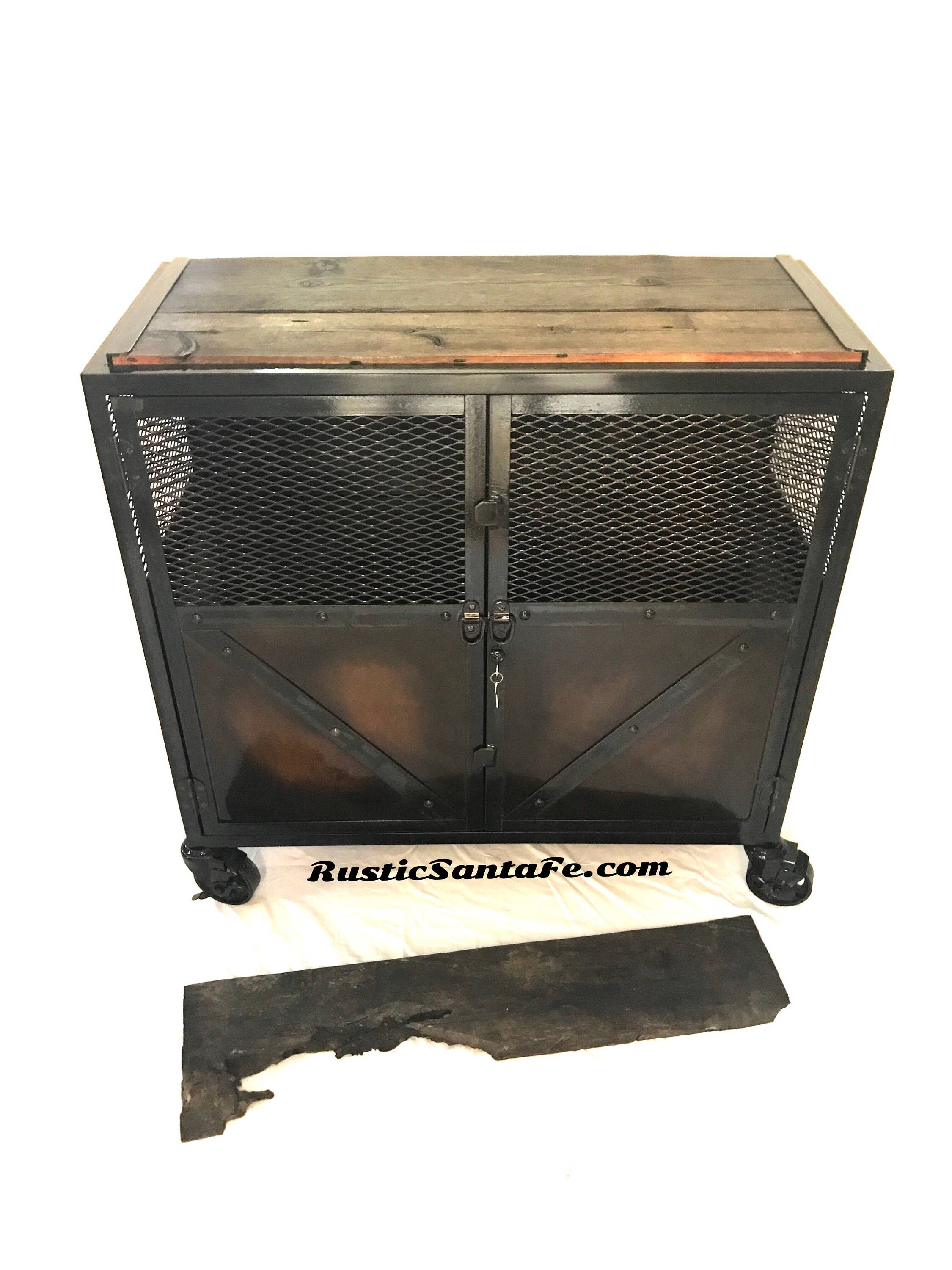 Industrial Locking Liquor Cabinet, Salon Station, Tattoo Cart, Restaurant,  Barber, Food