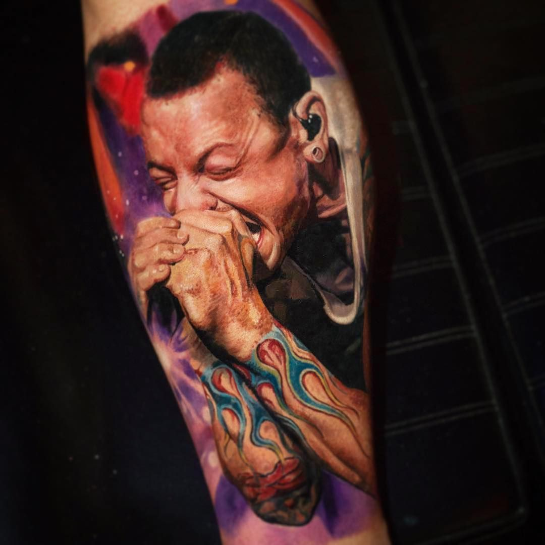 chester bennington by yomicoart tattoo best tattoos pinterest chester bennington tattoo. Black Bedroom Furniture Sets. Home Design Ideas