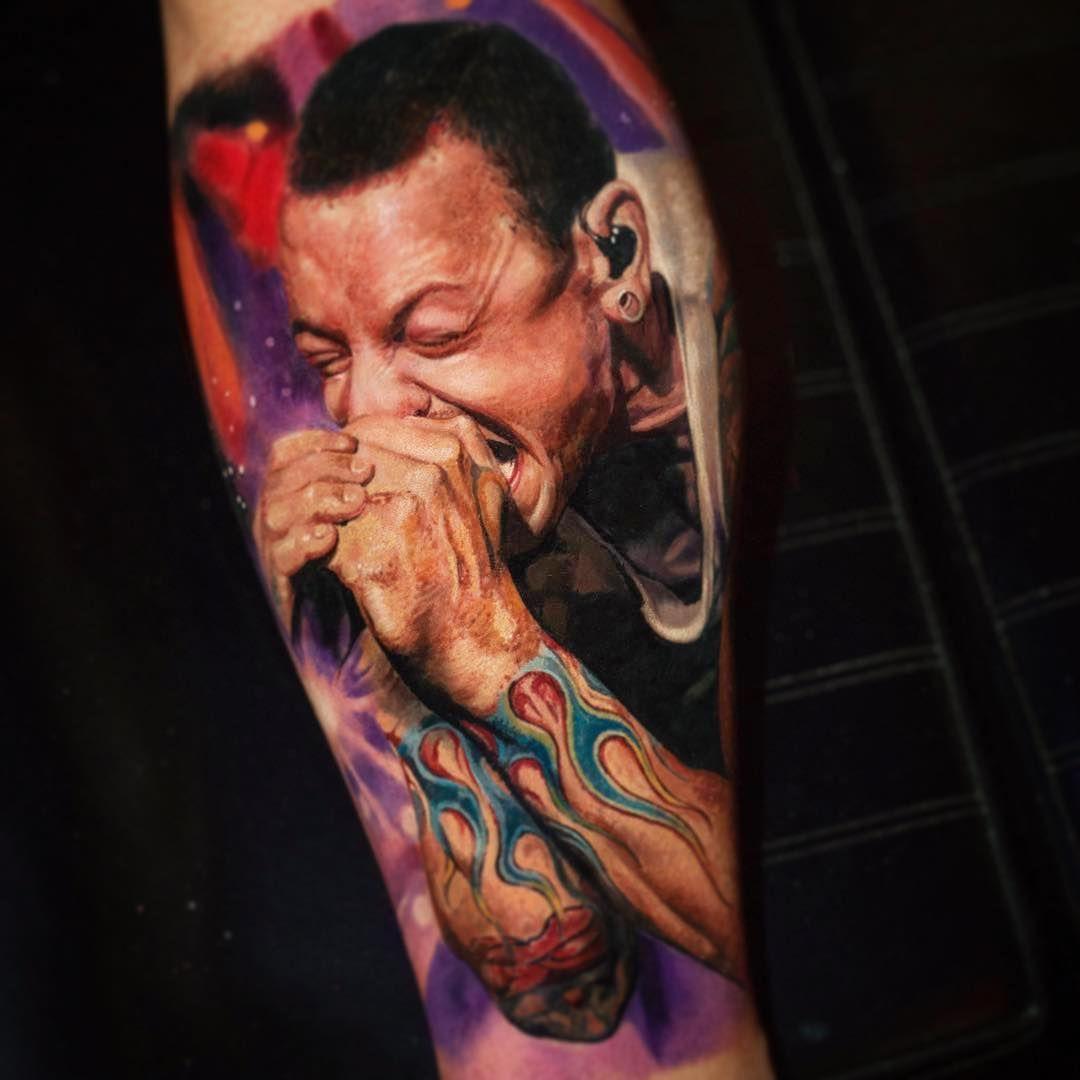 Chester Bennington by © YomicoArt Tattoo | Best tattoos