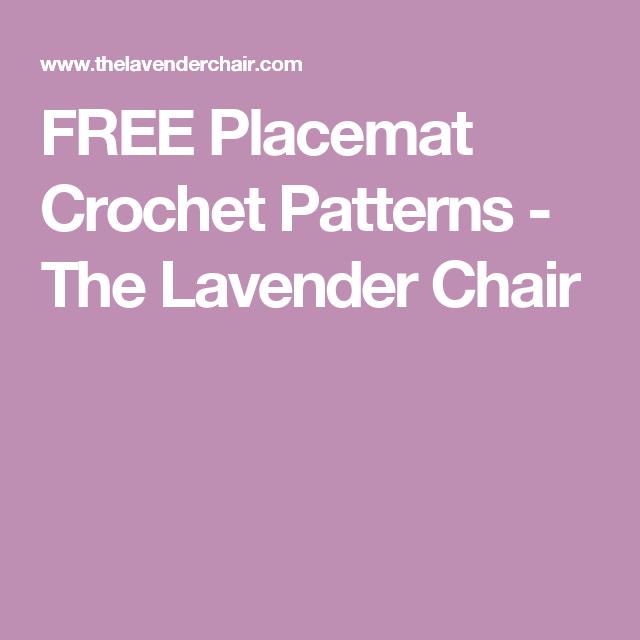 FREE Placemat Crochet Patterns | Crochet placemats | Pinterest