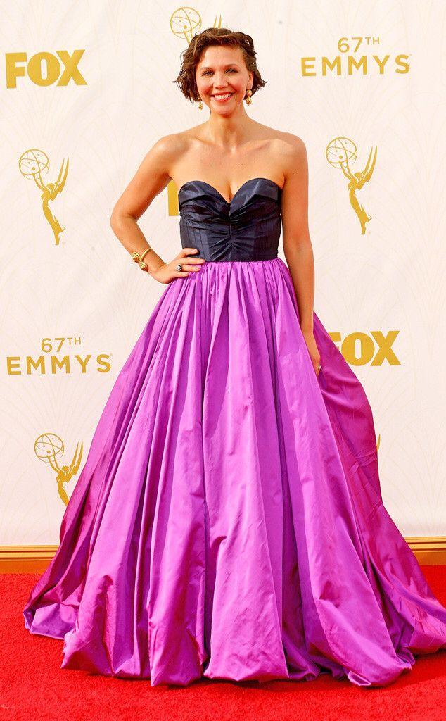 Maggie Gyllenhaal in Oscar De la Renta #emmys2015
