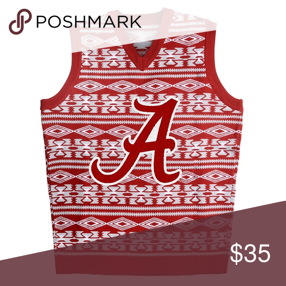 Ugly Christmas Sweater Vest Alabama Ncaa New Nwt My Posh