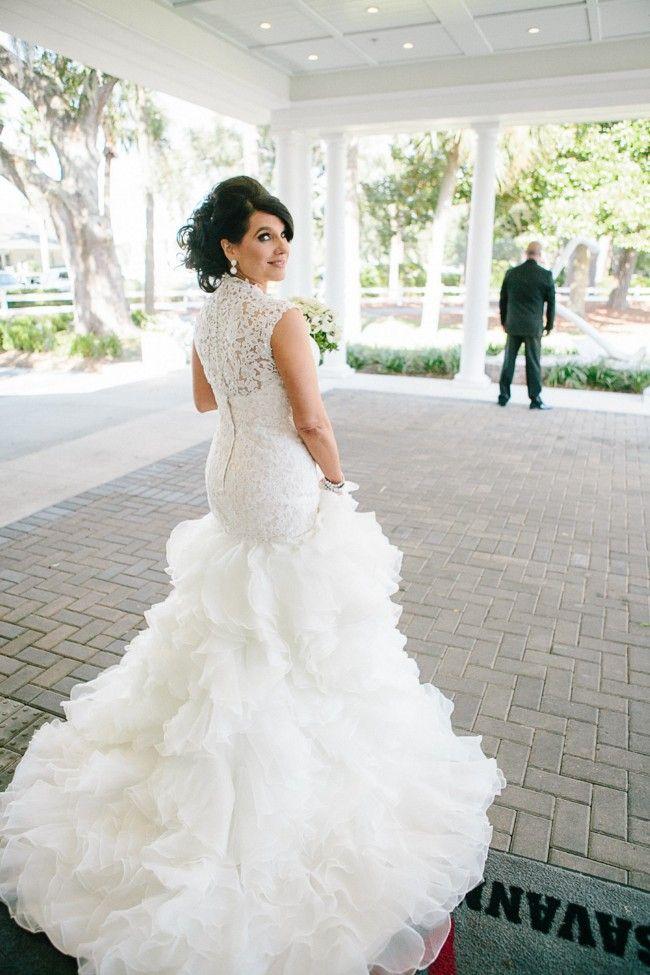 Lovely David Tutera For Mon Cheri Crawley Size Wedding Dress Still White