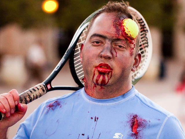 Zombie Tennis Aka Zombie - Love  Tennis Halloween -6774