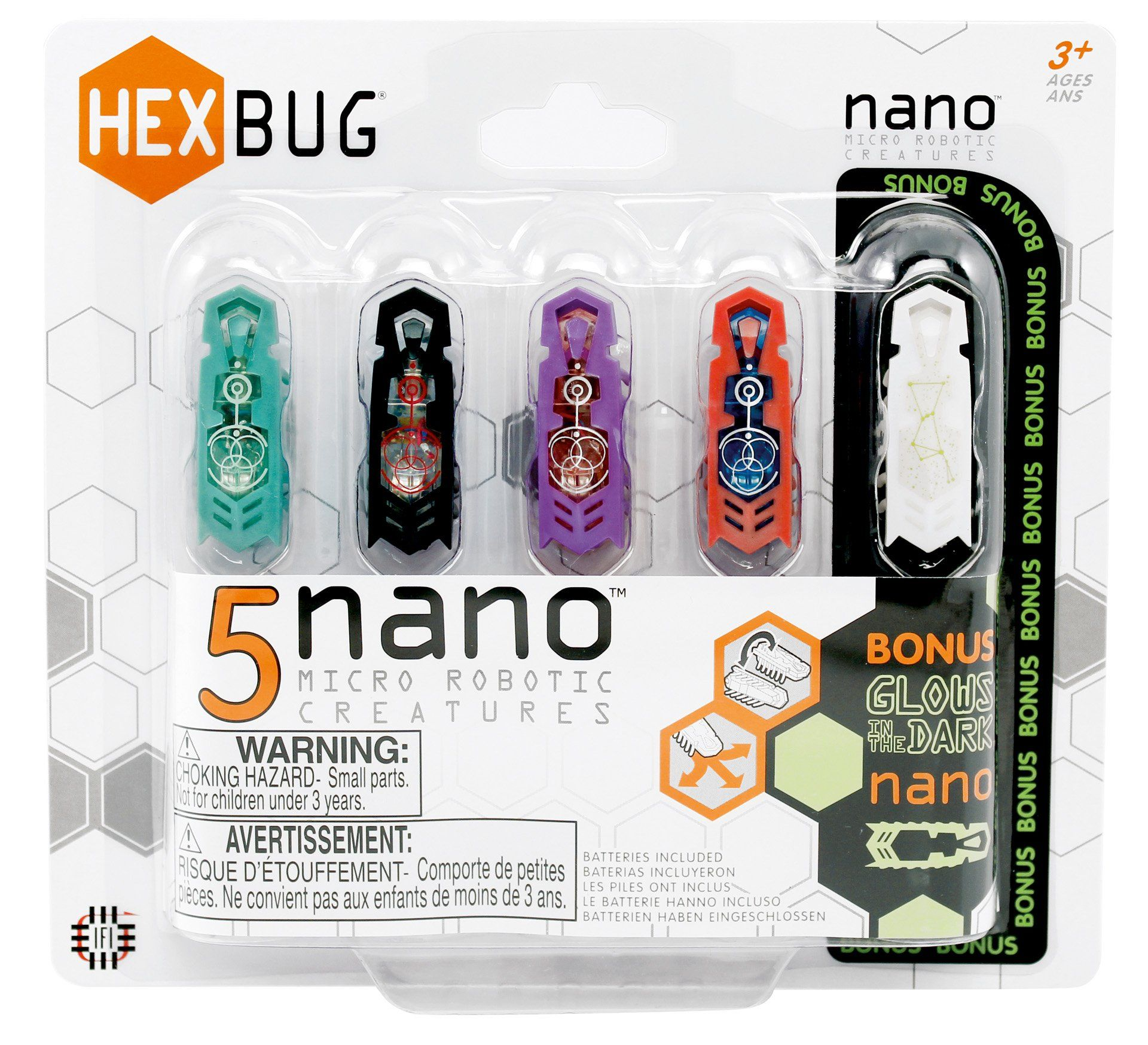 Hexbug Nano 5 Pack Colors May Vary Super Stem Products For Elenco Snap Circuits Lights Walmartcom