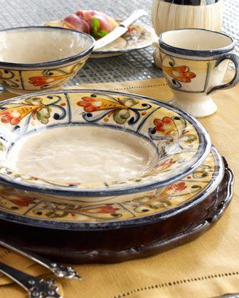 """""""Fiorella"""" Dinnerware by Caff Ceramiche at Horchow."""