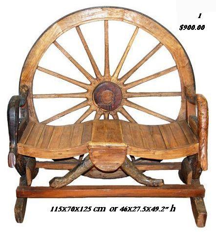 Wagonwheel Bench Barrel Benches Wagon Wheel Benches