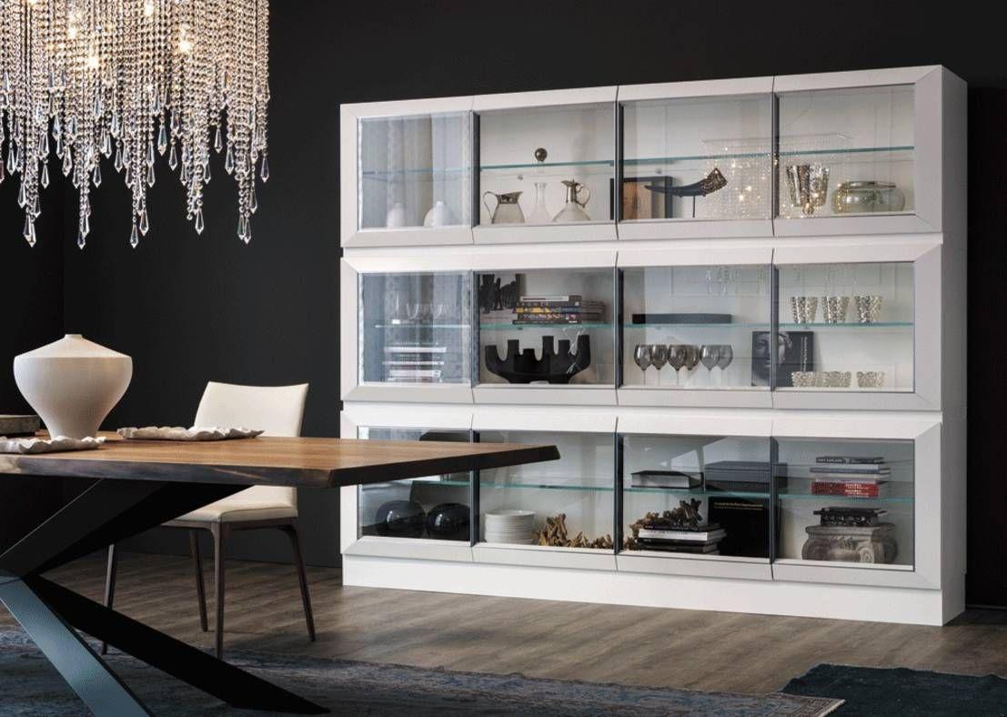 Vitrina de comedor minimalista muebles puertas - Vitrinas de madera para comedor ...