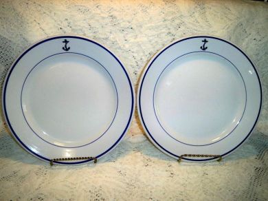 Vintage Buffalo China Navy Anchor Dinner Plates & Vintage Buffalo China Navy Anchor Dinner Plates | Luv2LuvAntiques ...