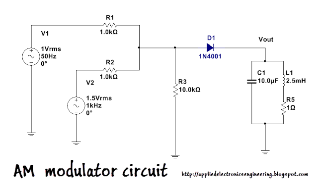 Am Modulation Circuit Simulation In Multisim Applied Electronics Engineering Fm Transmitters Electronic Schematics Circuit