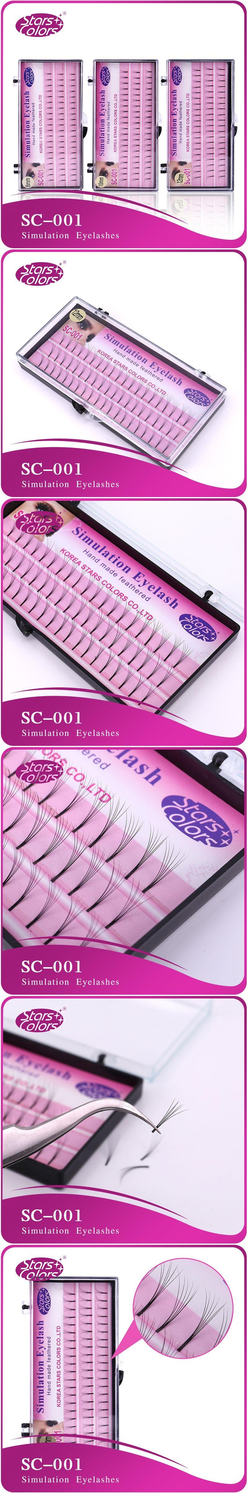 433b8afed0b Makeup fake 6D Eyelashes 0.10mm C Curl silk eyelash extensions Individual  Lashes Planting Black natural