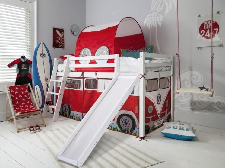 Cabin Bed Midsleeper With Slide Campervan Tent Tunnel In 2020