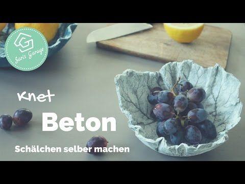 Knetbeton - DIY - Schälchen aus Knetbeton - How To - Wohnaccessoires