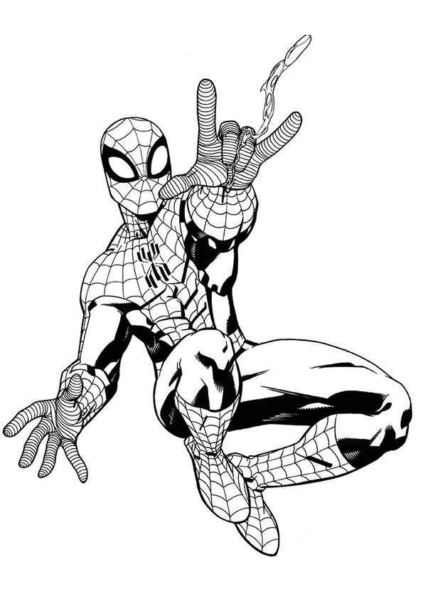 Spiderman Coloring Pages For Adult My Image Sense Superhero