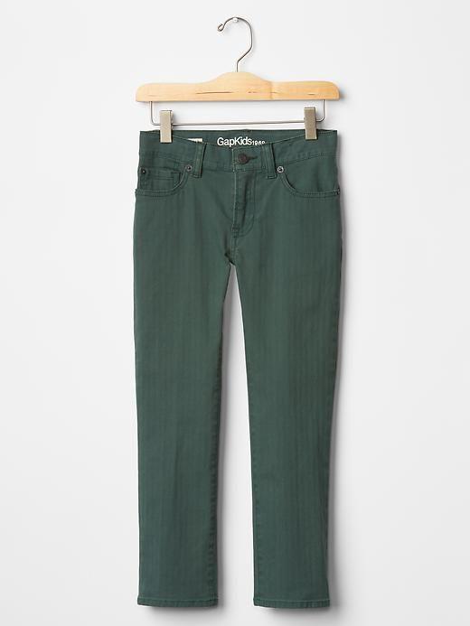 Straight fit herringbone pants Product Image