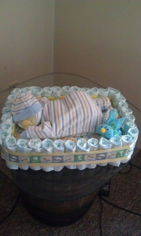 Baby Sleeping In Bed Shower Cake