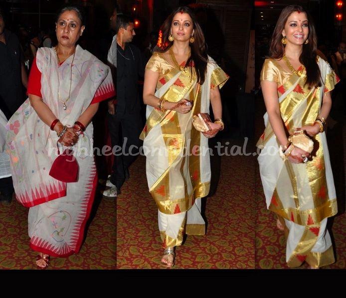 Kjjs Music Launch Aishwarya Rai Bachchan Jaya Saree Weddingethnic