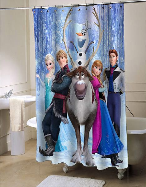 Disney Frozen Custom Shower Curtain Available Now On Myshowercurtains