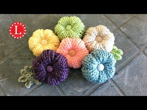 Loom Knitting Flowers Rib Stitch Puffy Flower Pattern Project On A