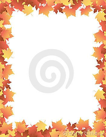 Autumn Leaves [maple] Border