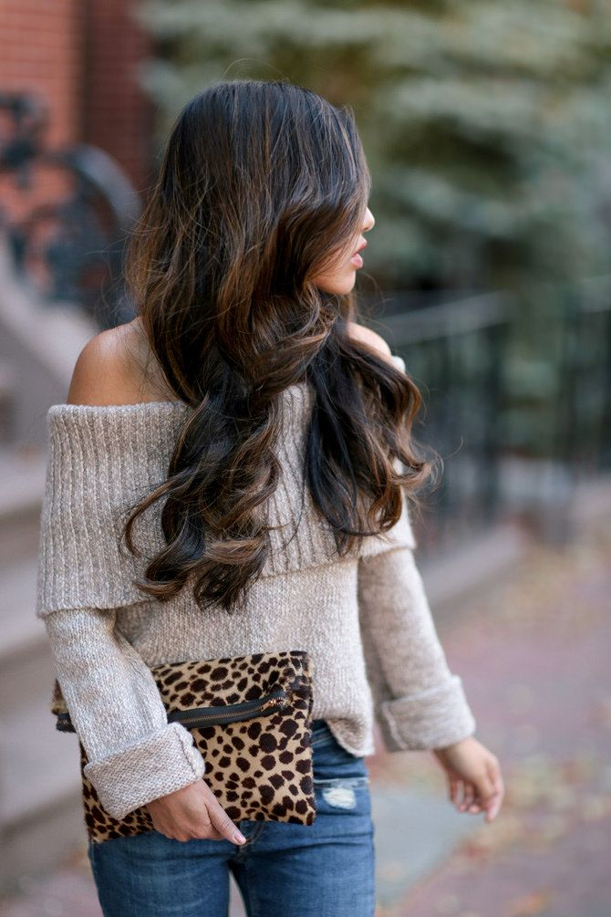 aerie american eagle off shoulder sweater dark balayage | Extra ...