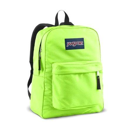 neon green Jansport backpack | bags ; | Pinterest | Jansport ...