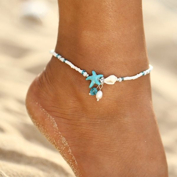 Pearl Colorful Beads Charm Anklet Ankle Bracelet Sandal Foot Chain Beach Jewelry