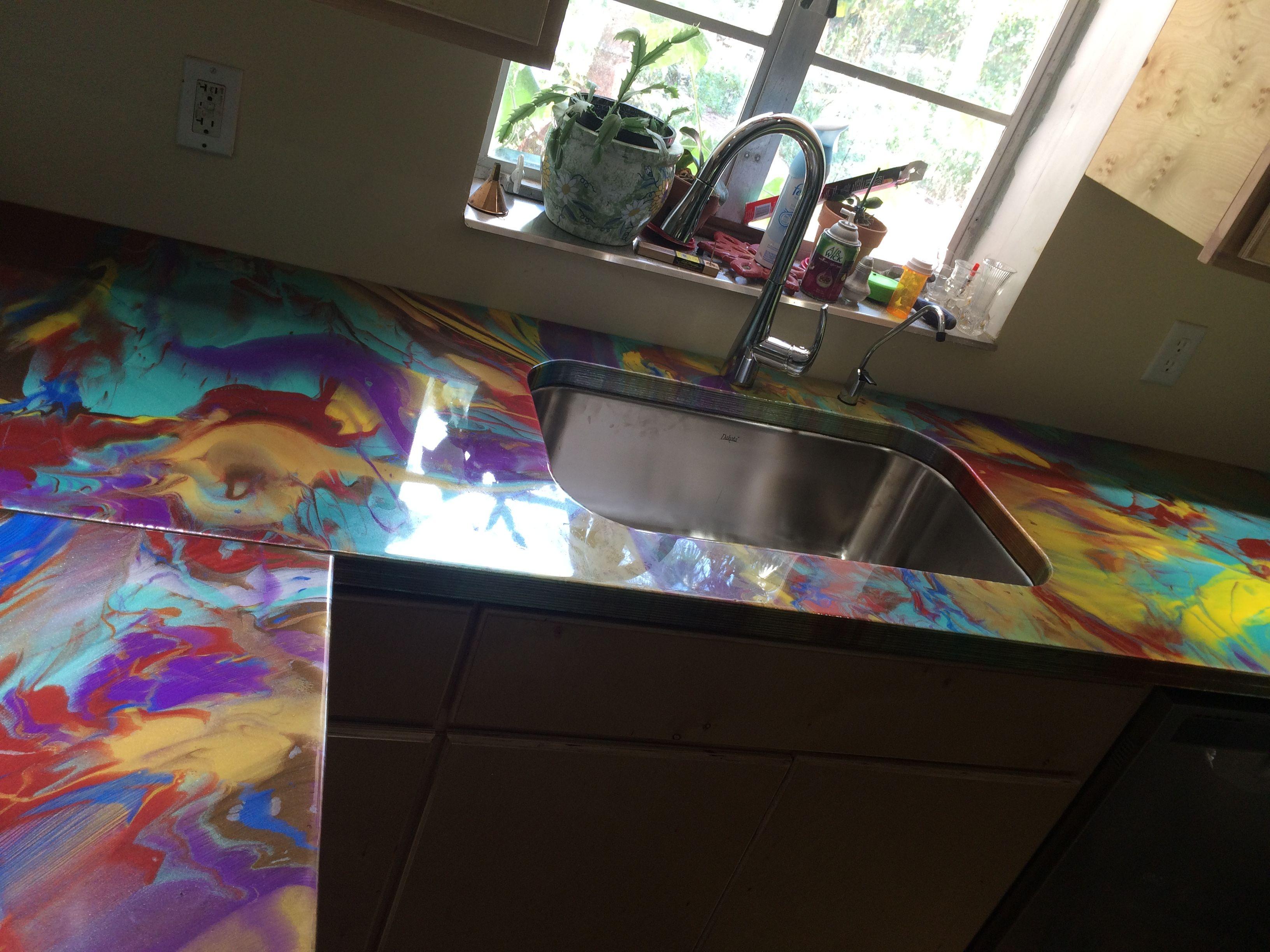 reflector enhancer epoxy kitchen counter tops under mount sink in wild colors art