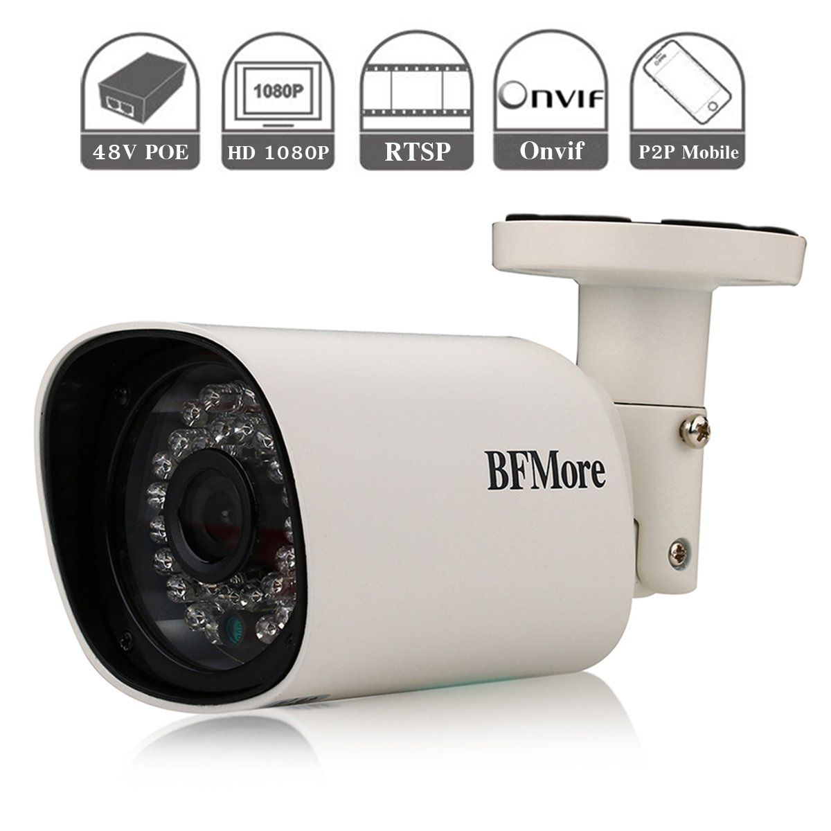 IP POE Camera 1080P RTSP, Outdoor Home Security Camera BFMore ...