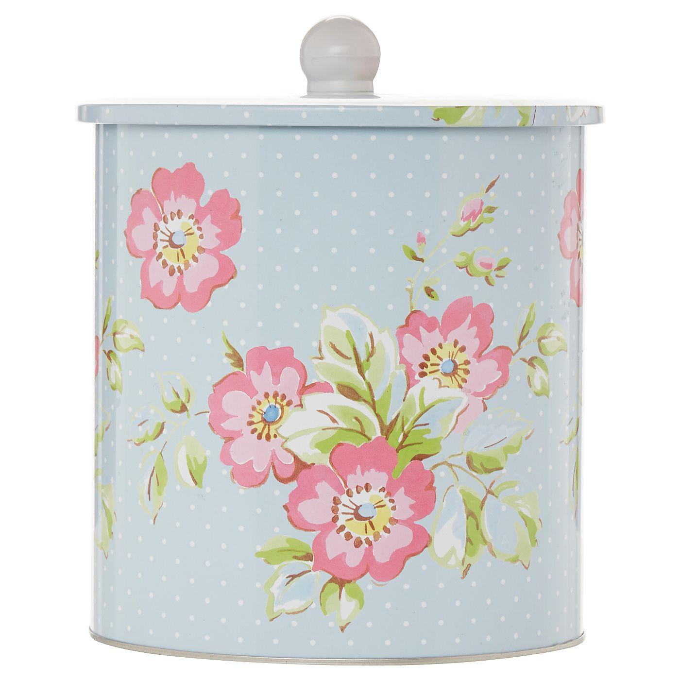 Katie Alice Candy Flower Biscuit Tin   Kitchen Storage   ASDA direct ...