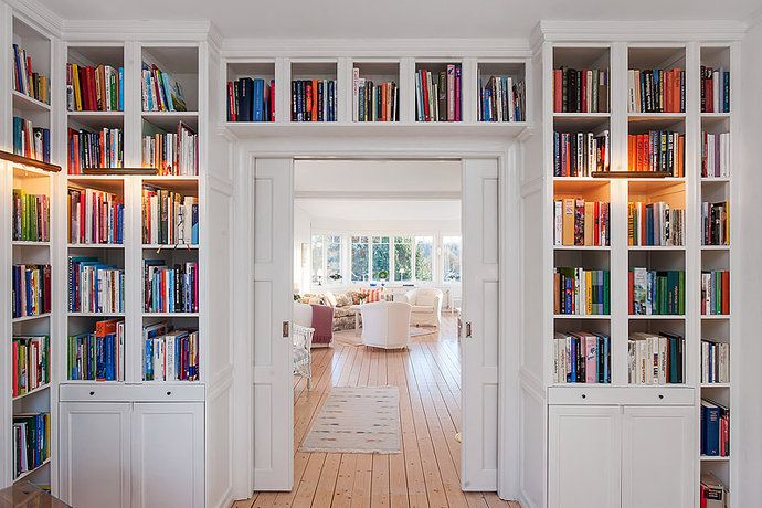Book Shelves Above The Door Shelves With Moulding