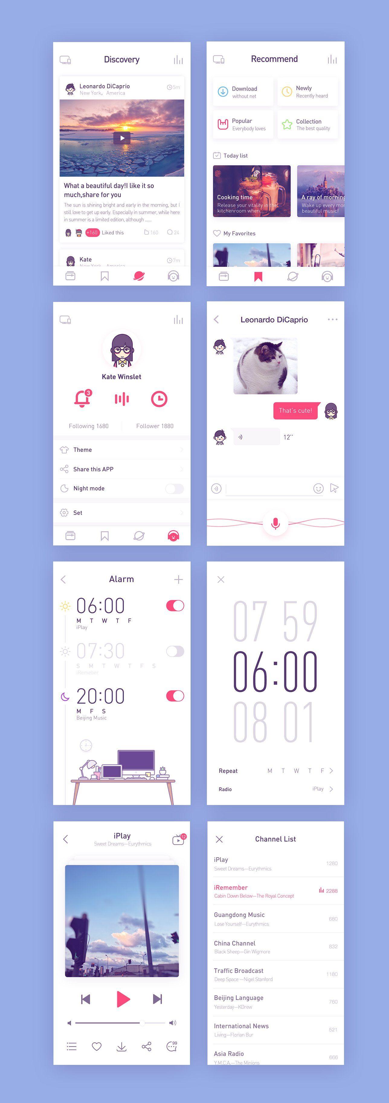 Radio app – User interface by Rwds
