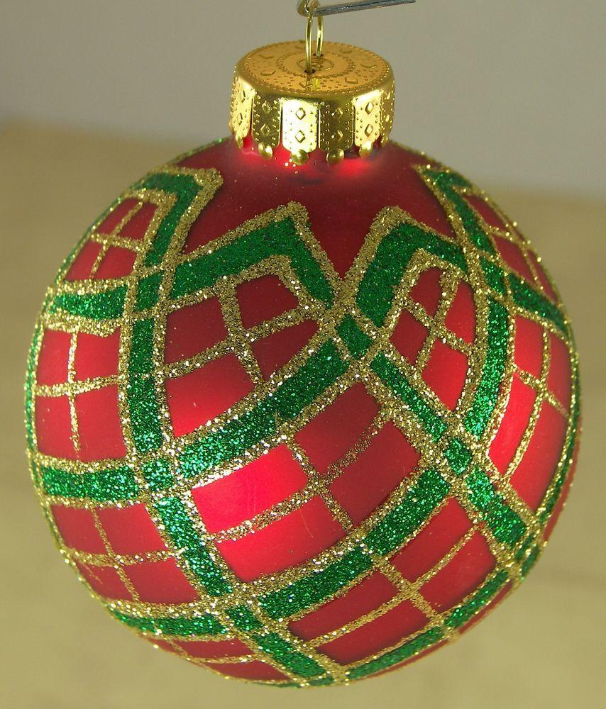 Classic Plaid Christmas Ornaments Modern Christmas Decor Red /& Green Tartan Ornament Tree Decoration Christmas Ball Cabin Holiday Set