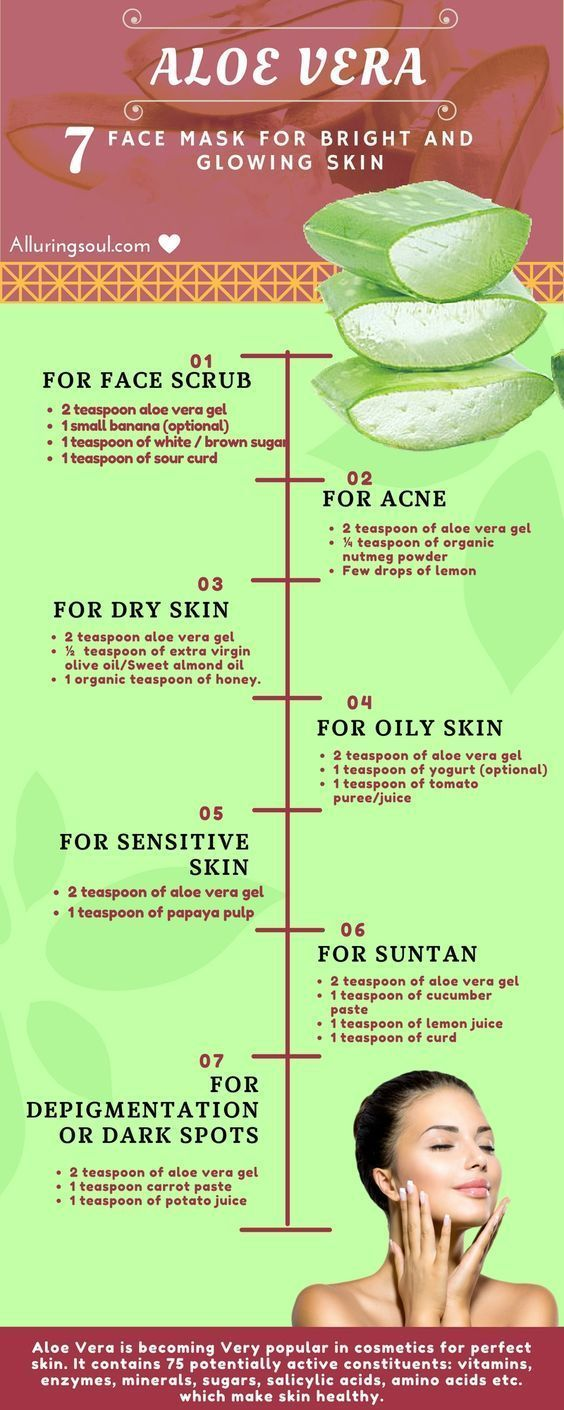 Aloe vera face mask for oily skin