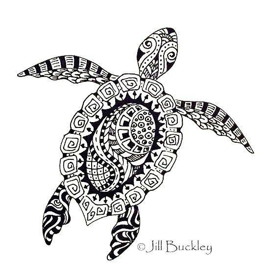 turtle mandala zentangle coloring picture art coloring pages designs pinterest dessin. Black Bedroom Furniture Sets. Home Design Ideas