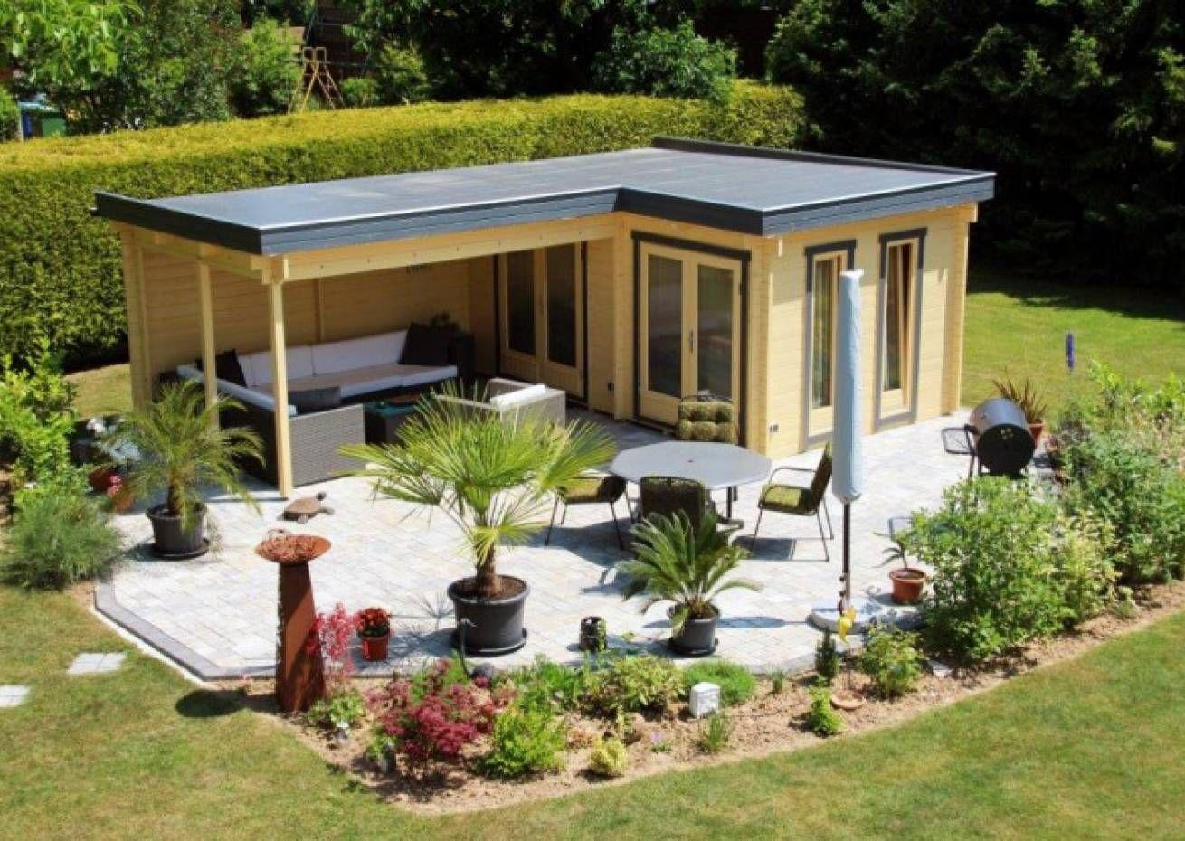 Gartenbüro Gartenhaus Nora C 8,5m² / 40mm / 3x3 in 2020
