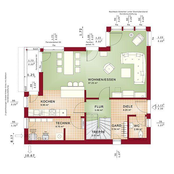 Edition 1 V5 Bien Zenker Fertighaus Grundriss, Haus