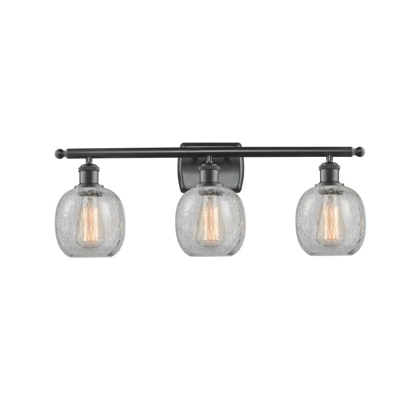 Photo of Innovations Lighting 516-3W Belfast Belfast 3 Light 26″ Wide Bathroom Vanity Lig Matte Black / Clear Crackle Indoor Lighting Bathroom Fixtures Vanity